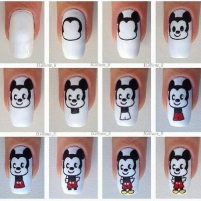 ○ Des ongles de Mickey Mouse ! ○