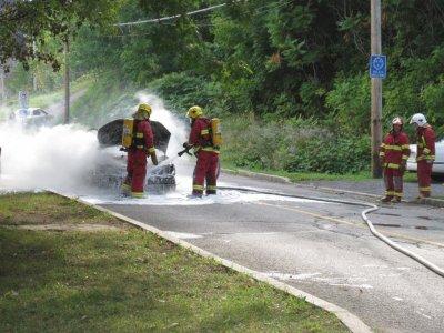 Incendie de voiture !
