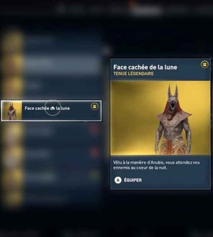 - Assassin's Creed : Origins  \Déblocage de La Tenue d'Anubis/