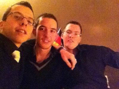 De droite à gauche : Moi Florent et Franck