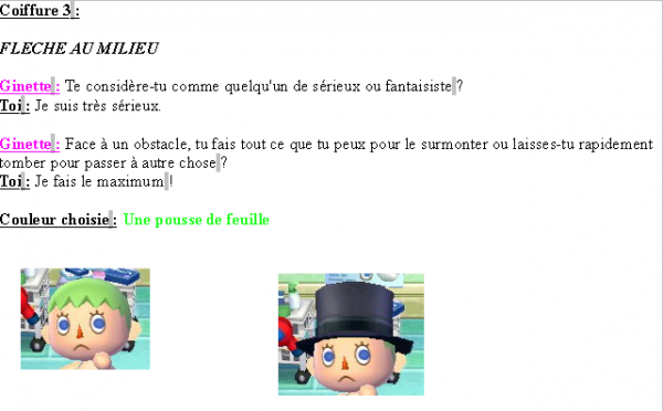 Guide des coiffures ( garçon ) - Animal Crossing new leaf # 1