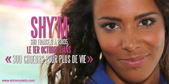 """Shy'm bientot dans """"300 ch½urs pour plus de vie"""""""