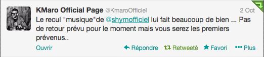 Message de K-Maro pour les #Shimisoldiers