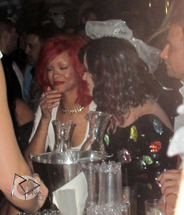 "Rihanna and Katy Perry at the club ""XS"" in Las Vegas"