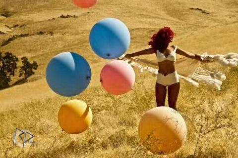 "Rihanna on the set of ""Only Girl (In The World)"" music video"