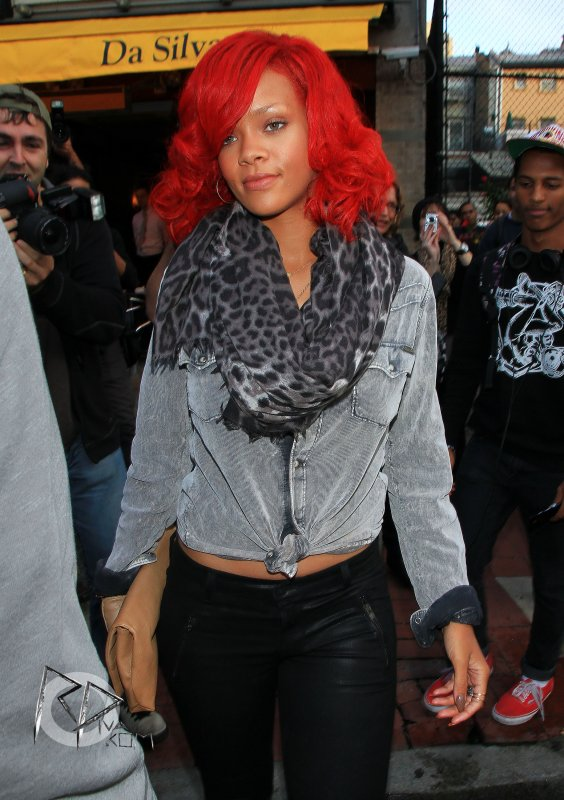 "Rihanna at ""Da Silvano"" restaurant"