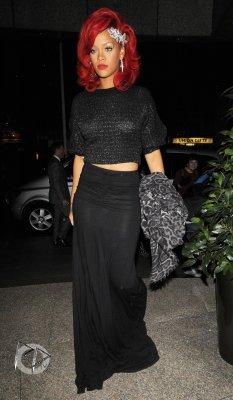 Rihanna visits a photo studio