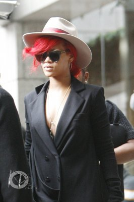 Rihanna leaves her hotel in London