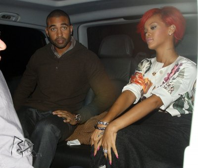 "Rihanna and Matt Kemp at ""Sketch"" restaurant"