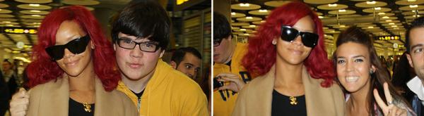Rihanna pose avec des fans à Madrid en Espagne