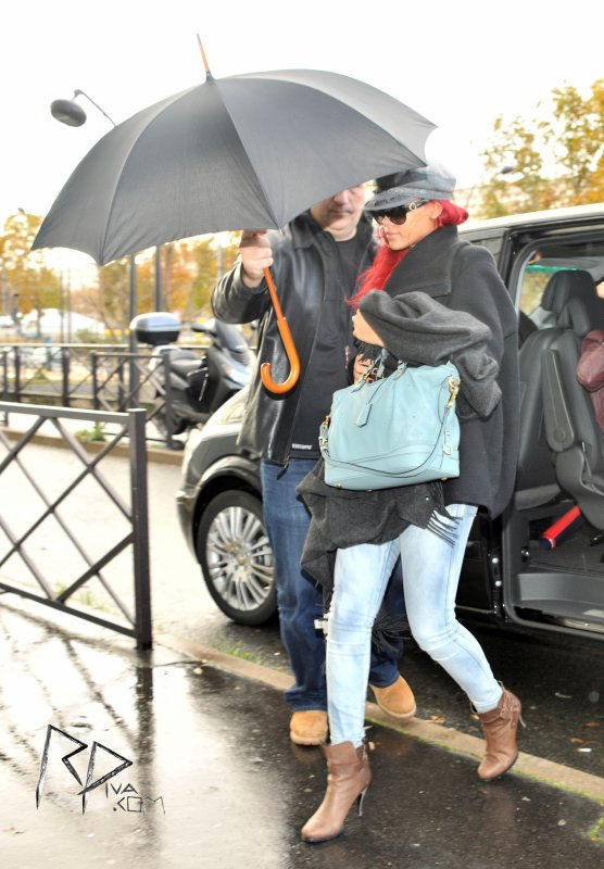 "Rihanna arrives at ""Canal+"" studios in Paris"