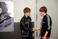 Justin et ses fans en Belgique