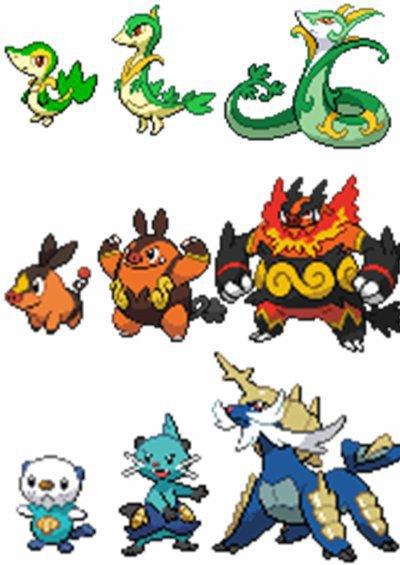 Les Pokémon de base et leurs évolution