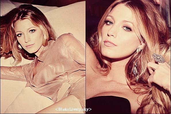 . Re/Découvre un photoshoot qu'à fait Blake pour le magazine Marie Claire en 2010 !  Je la trouve vraiment magnifique ! Et vous ?! TOP or FLOP ? Et le petit chien est trop mignon vous trouvez pas ?. .