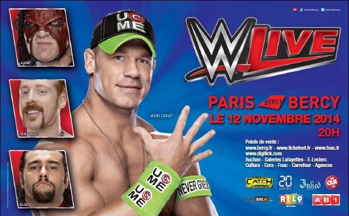 Deux matchs annoncés pour la WWE à Paris