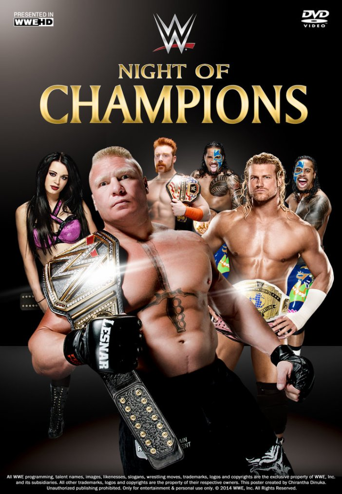 pronostique de night of champions 2014 par Manu Wrestling