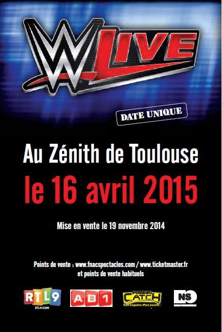 Une date française pour la WWE en avril 2015