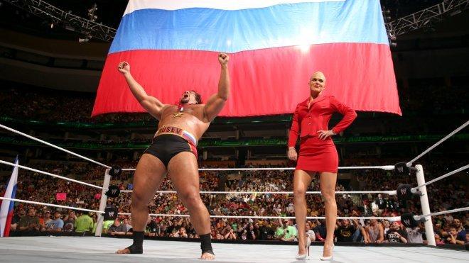 Indice sur l'entrée prévue pour Rusev à WrestleMania 31