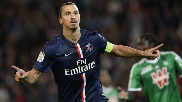Maillot de Zlatan Ibrahimovic Porté contre Saint Etienne