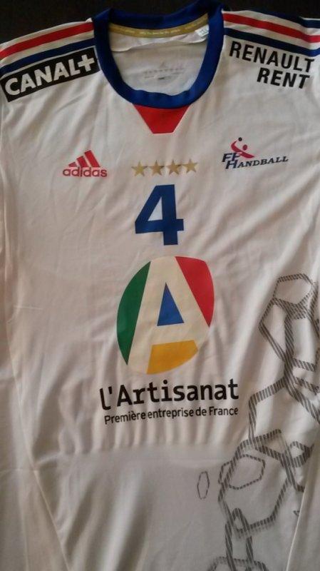 Maillot porté par Xavier Barachet contre l'Islande lors du Mondial
