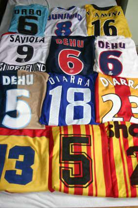 collection maillots portés