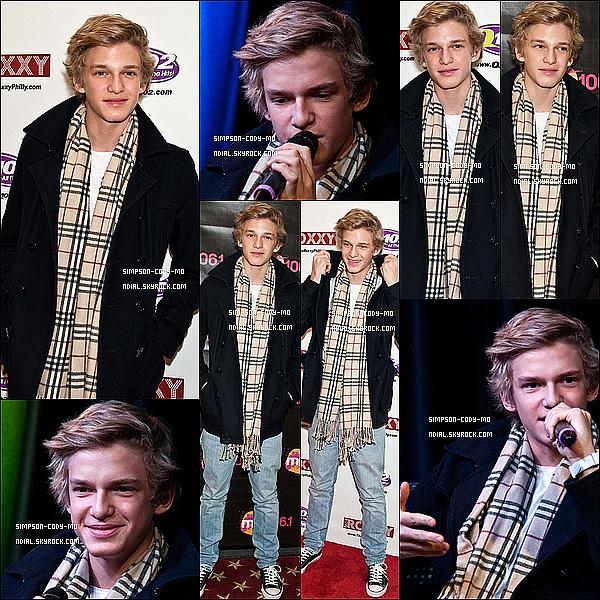 04/02/12 ♦ Cody Simpson a visité la radio Q102 à Philadelphie , PA .