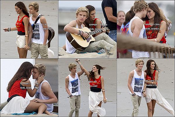 26/09/11 ♦ Des photos de Cody Simpson sur le tournage de son clip Not Just You qui sortira bientôt ont été dévoilé.