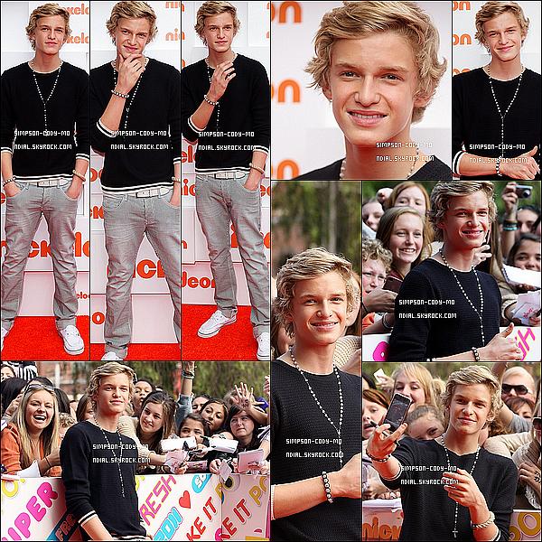 06/10/11 ♦ Cody Simpson était bien présent avec Alli à la cérémonie des Kids Choice Awards 2011 qui c'est déroulé dans son pays natal. Cody a aussi remporter les 3 prix des 3 catégories pour lesquelles il était nominé .