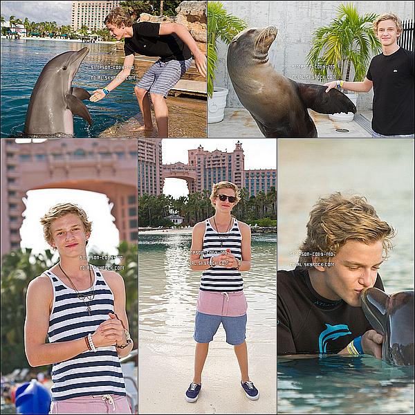 22/11/11 ♦  Des photos de Cody Simpson durant son séjour aux Bahamas sont en ligne.