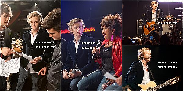 01/03/12 ♦ Cody Simpson était au iHeartRadio Theater pour annoncer l'ouverture de la tournée pour Big Time Rush , il a aussi performer en live .