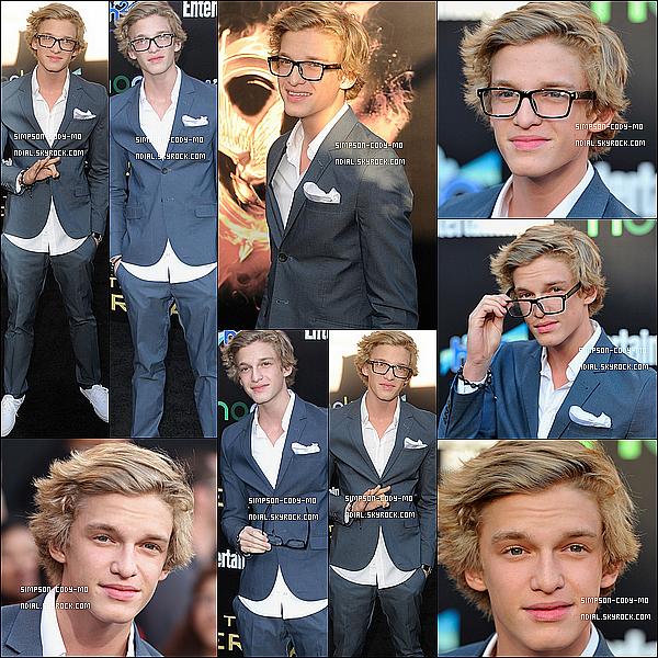 13/03/12 ♦ Cody Simpson était à l'avant première du film Hunger Games avec sa petite soeur Alli Simpson à Los Angeles CA.