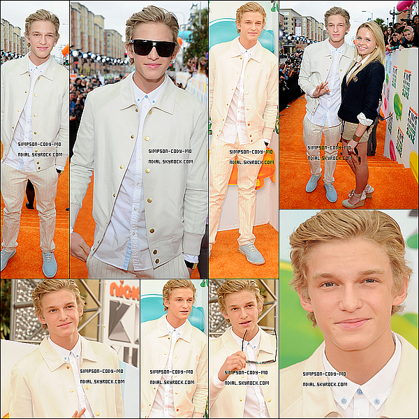 31/03/12 ♦ Cody Simpson était aux Kids Choice Awards à Los Angeles.
