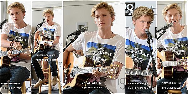 01/06/12 ♦ Cody Simpson était aux Bing et DoSomething au coeur même de Los Angeles.