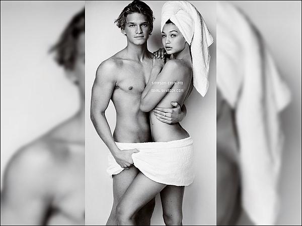 Photoshoot ♦ Cody Simpson et Gigi Hadid ont posé pour le photographe Mario Testino.