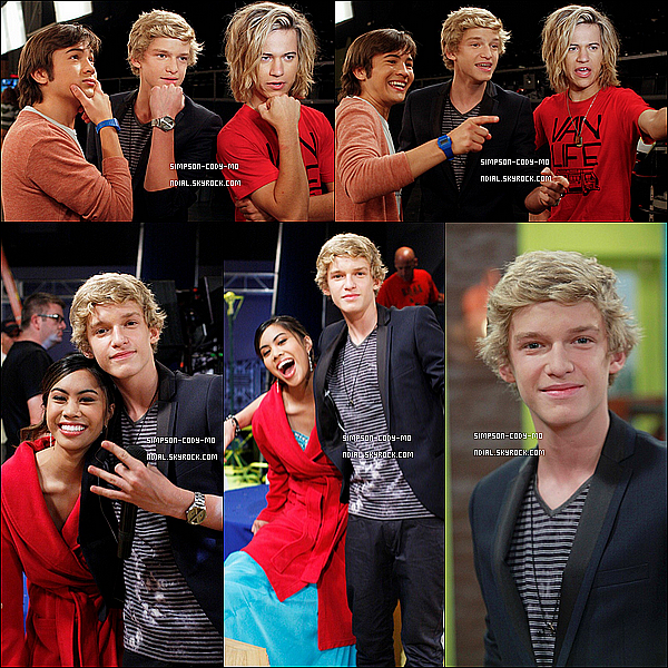 09/06/12 ♦ Cody Simpson était sur le set de Bucket & Skinner's Epic Adventures .