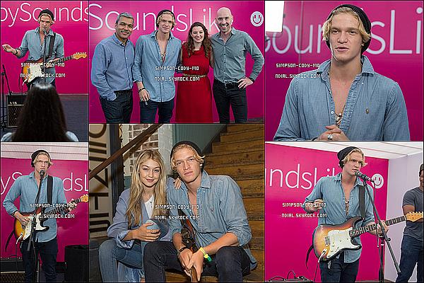 20/03/15 ♦ Cody Simpson était au SXSW Festival, le jour de l'International Day of Happiness à Austin.