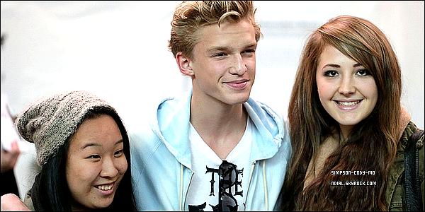 18/10/12 ♦ Cody Simpson était à Vancouver pour l'évènement We Day .