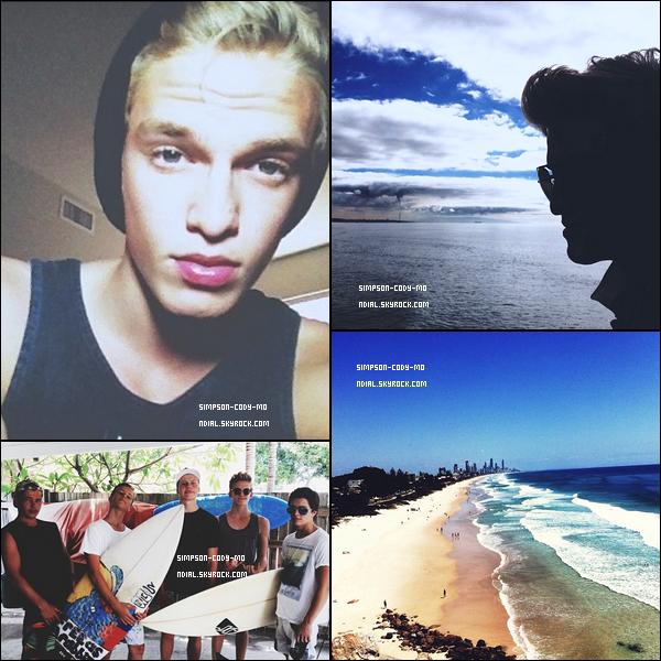 Instagram Time ♦ En ligne les photos postées par Cody Simpson du mois de Décembre 2012.