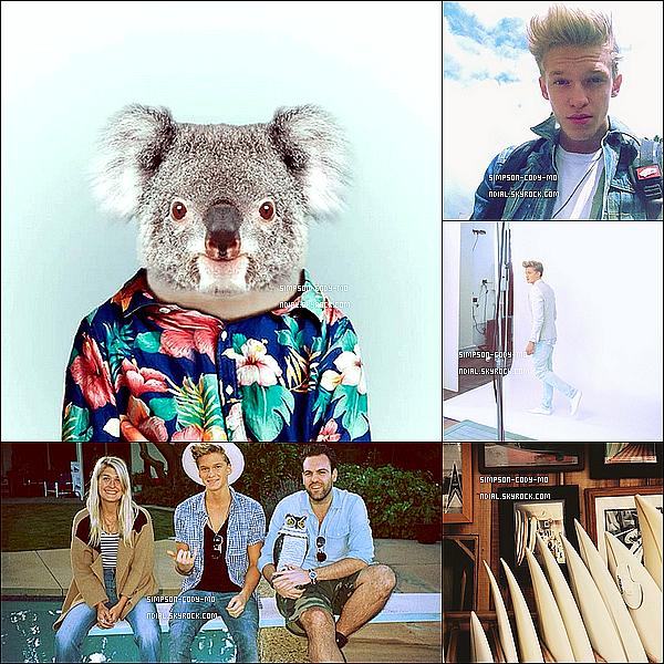 Instagram Time ♦ En ligne les photos postées par Cody Simpson du mois de Mai 2013.