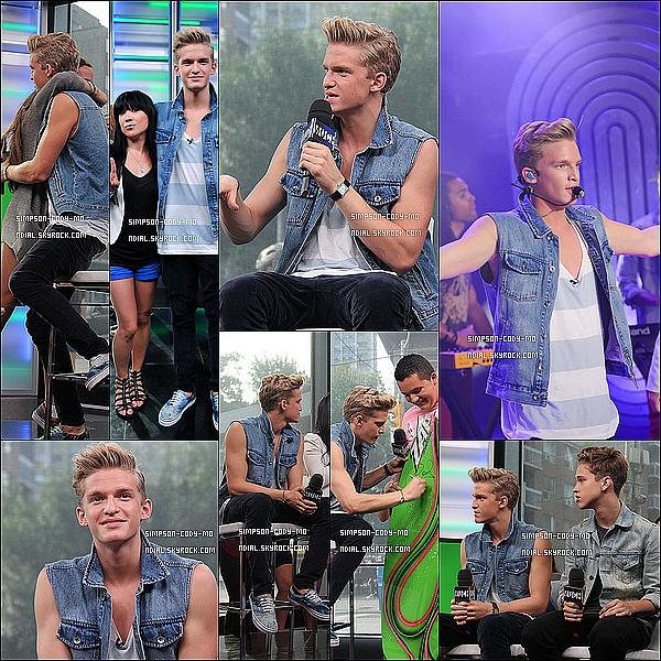 09/07/13 ♦ Cody Simpson était chez New Music Live pour performer et être Interviewer.