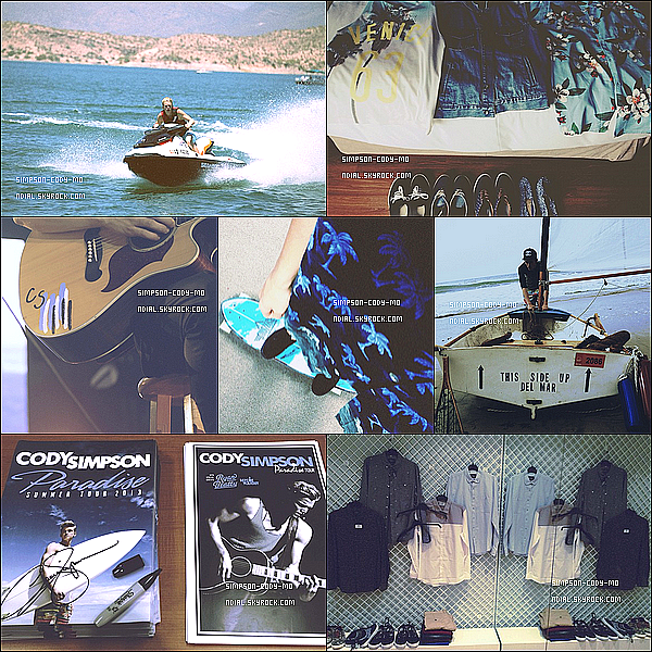 Instagram Time ♦ En ligne les photos postées par Cody Simpson du mois de Juin 2013.