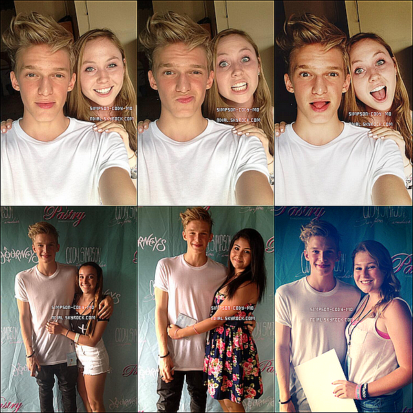 02/08/13 ♦ Cody Simpson a donné un Meet&Greet dans Brooklyn à New York.