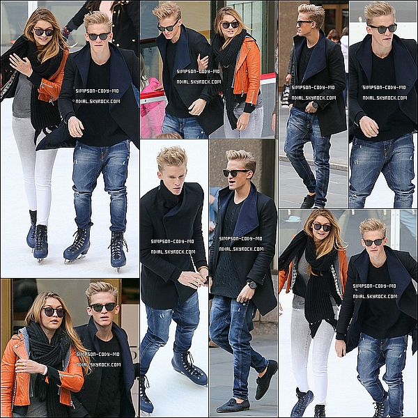 29/10/13 ♦ Cody Simpson était avec sa Girlfriend au Rockefeller Center.