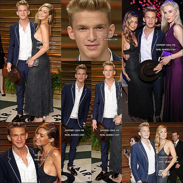 02/03/14 ♦ Cody Simpson était à la cérémonie des Vanity Fair Oscar à West Hollywood.