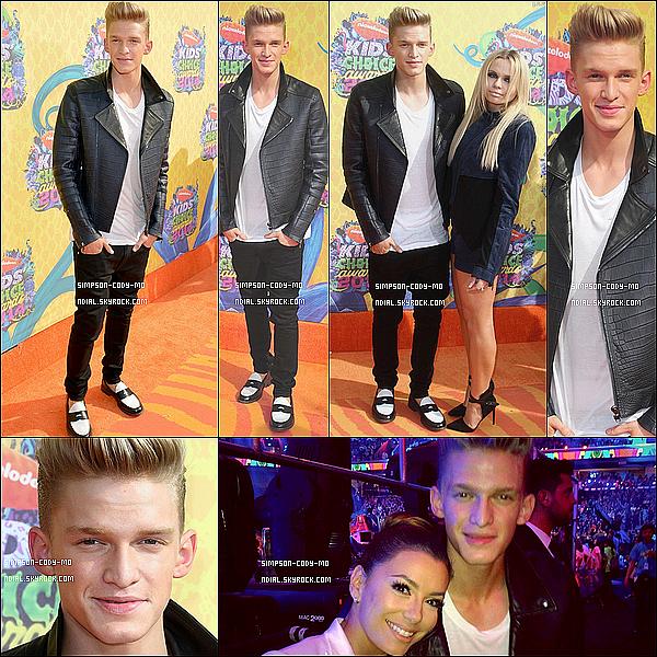 29/03/14 ♦ Cody Simpson était présent à la cérémonie des Kids Choice Awards à Los Angeles.