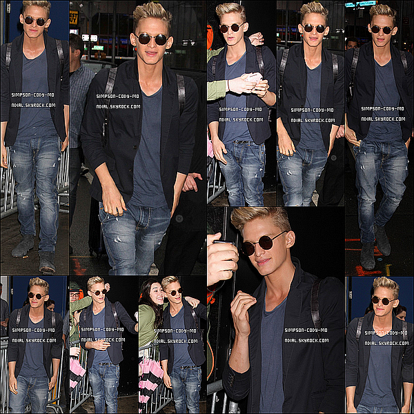 15/04/14 ♦ Cody Simpson a été vu sortant de l'émission Good Morning America  à NY.