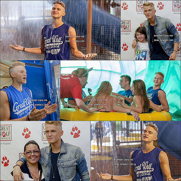 13-15/06/14 ♦ Cody Simpson était dans le Massachusetts pour la Great Wolf Lodge.