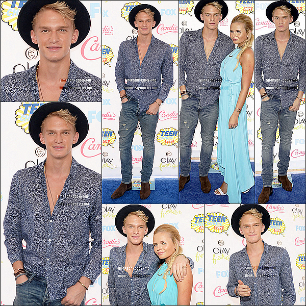 10/08/14 ♦ Cody Simpson était aux Teen Choice Awards à Los Angeles avec sa soeur Alli.