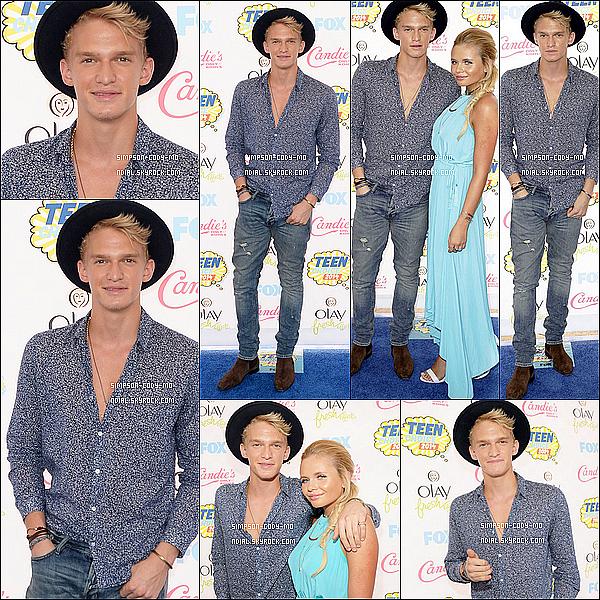 10/08/14 ♦ Cody Simpson était aux Teen Choice Awards à Los Angeles avec sa soeur Alli.