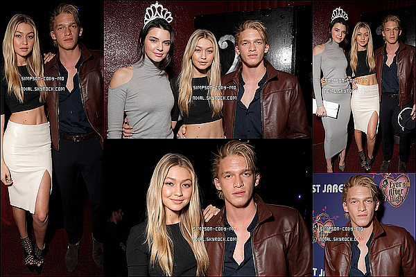 22/11/14 ♦ Cody Simpson & sa girlfriend étaient au 22ème anniversaire de Miley Cyrus à Hollywood.